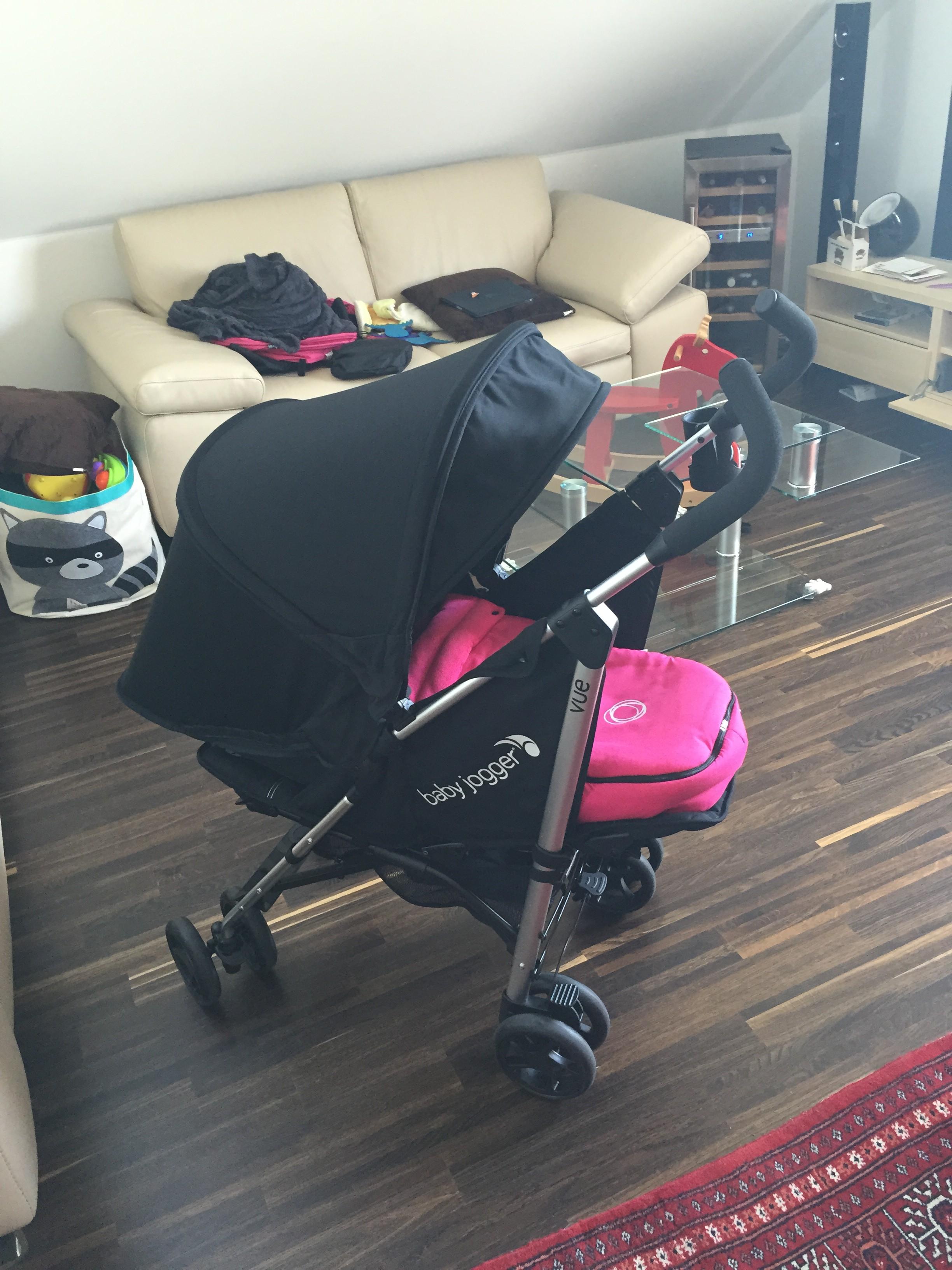Baby Jogger Vue Poussette Canne  Noir